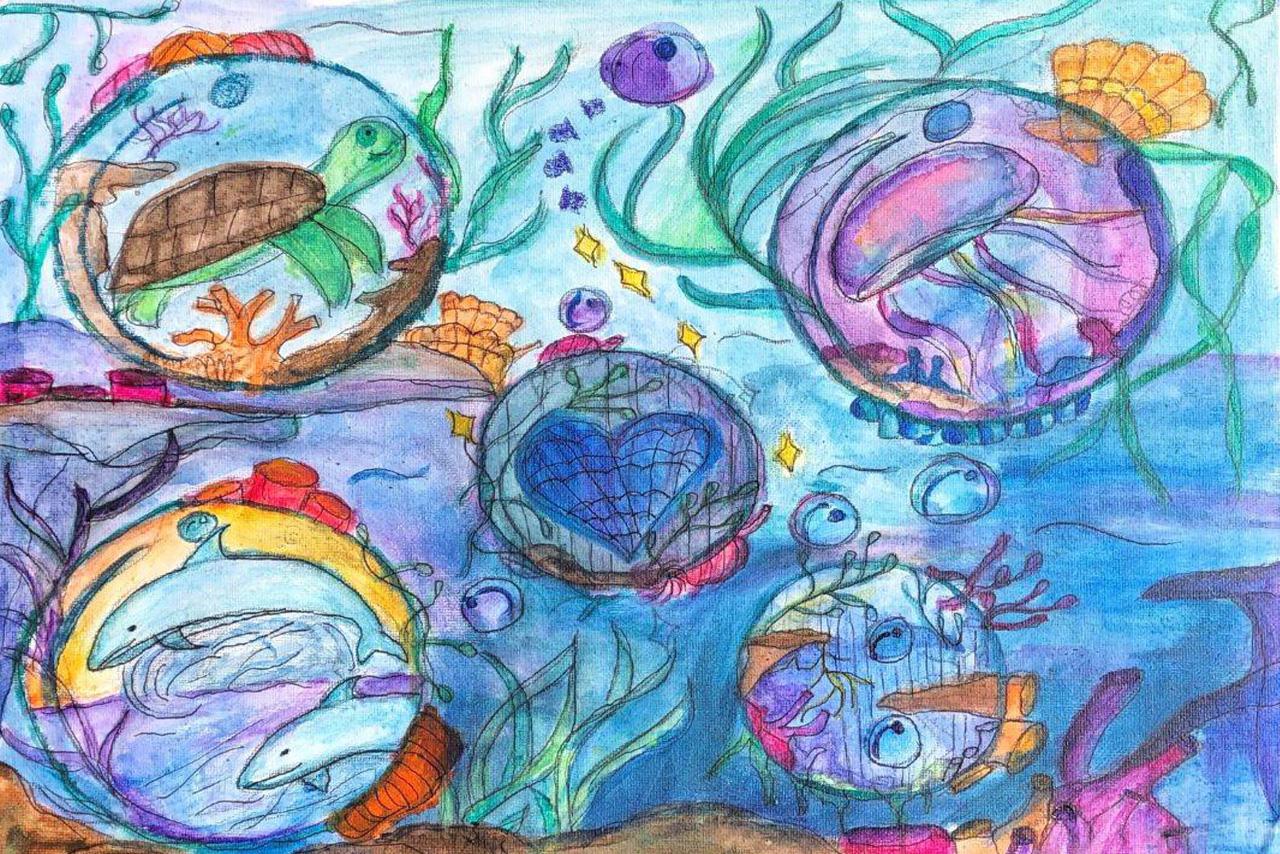 Students Across California Send Giant Ocean Protection Message through Art for World Ocean Day